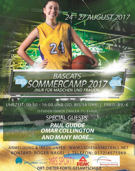 Das Bascats Sommercamp 2017 – Jetzt anmelden!
