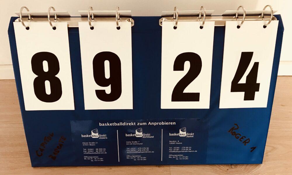 Die U14w2 überrascht ihren Coach mit einem 89:24 Auftaktsieg
