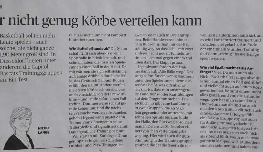 Zeitungsartikel aus der heutigen Ausgabe der Rheinischen Post
